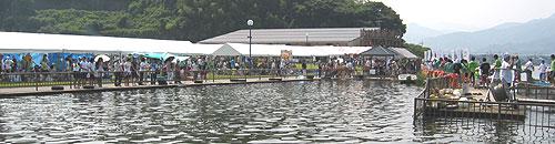 8月6日湯梨浜町内ドラゴンカヌー大会